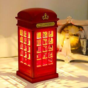 Telephone Booth B/O Light - retro, British, London, phonebox, lamp, LED