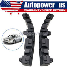 Pair Front Bumper Bracket Beam Mount Support For Honda Accord 2008 2012 Fits 2008 Honda Accord