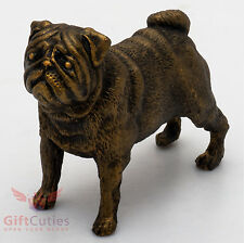 Tin Pewter Figurine of Pug Dog IronWork