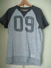 mens ABERCROMBIE & FITCH GREY COTTON CREW NECK T SHIRT SIZE SMALL