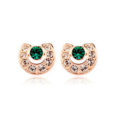 Fashion Jewelry - 18K Rose Gold Plated Horse Shoe Stud Earrings (FE178)