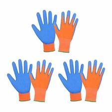 New Listing3 Pairs Kids Gardening Gloves For Age 2 13 Rubber Coated Palm Garden Gloves F