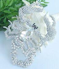 "Gorgeous 4.72"" Scorpion Animal Brooch Pin Clear Rhinestone Crystal Gift 05031C4"