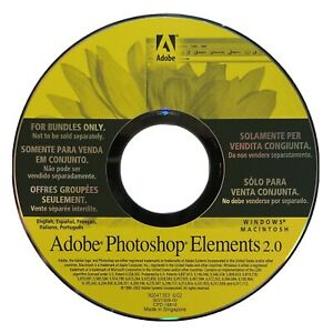Adobe Photoshop Elements 2.0 CD with Serial Number