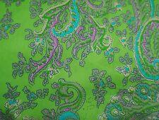 Sowohl 42 breit Material japanischer Kimono grün Floral Stoff nähen von 1 Yd