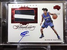 2015-16 Panini Flawless Basketball Elfrid Payton Patch Jersey on card auto /15