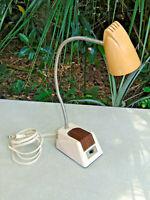Vintage Mid Century Hamilton Industrial Gooseneck Desk Lamp Work Light steam BK
