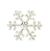 SNOWFLAKE DIAMANTE EMBELLISHMENTS SILVER RHINESTONE CARD TOPPER CRYSTAL WEDDING