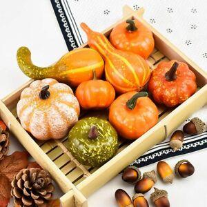 Mini Artificial Pumpkin Harvest Autumn Fall Halloween Thanksgiving Home Decor