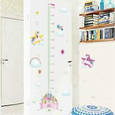 Unicorn Castle Height Chart Measure Wall Decal Girl Nursery Sticker Murals   @sh