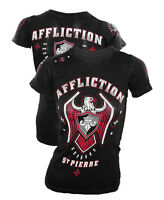 Authentic Affliction Womens Georges St. Pierre Royal Baby Tee,GSP UFC 217 Tshirt