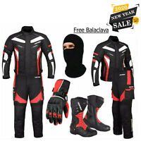 ProFirst Motorcycle Suit With Boots Free Gloves Motorbike CE Armoured Waterproof