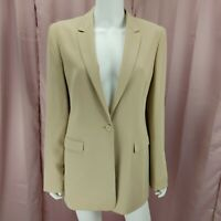 Jones New York Women's Cream Beige Long Sleeve Blazer Jacket Size 10