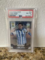 LIONEL MESSI 2014 PANINI PRIZM WORLD CUP CARD #12 PSA 8