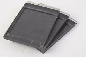 LOT OF 3 BACO HOLLYWOOD 4x5 SHEET FILM HOLDERS, NICE & CLEAN