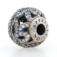 NEW Authentic Pandora Essence Appreciation Charm Sterling Silver Clear 796054CZ