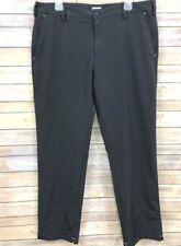 Adidas Mens Golf Pants Climacool Athletic Black Size 36 x 32 Flat Front Slacks
