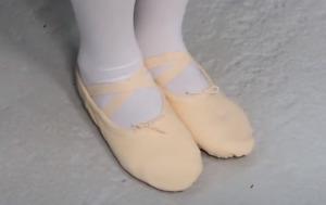 Ballettschläppchen Ballettschuhe 33 Tanzschuhe Schwarz Weiß Rosa Sand Gr. 22-44