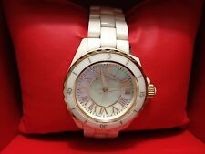 "Swiss Legend 20050-BGWGR ""Karamica"" Ceramic-Gold-Accent-Mother of Pearl face"