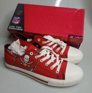 Tampa Bay Buccaneers FOCO NFL Mens Low Top Big Logo Canvas Shoes Size 10 NICE!