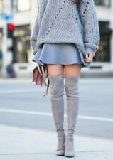 STUART WEITZMAN Highland Grey Taupe Beige Suede Over The Knee Boots 9.5