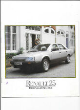 Renault 25 1984-85 UK Introduction Sales Brochure TS GTS GTX V6i