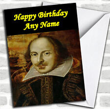 William Shakespeare Birthday Customised Card