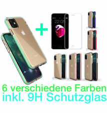 IPhone 11 | 11 Pro Mobile Case Bumber Silicone Case Coloured Edge + 9H Protection Glass