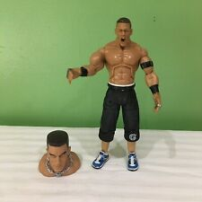 WWE DELUXE AGGRESSION JOHN CENA  JAKKS WRESTLING ACTION FIGURE WITH TOPPER