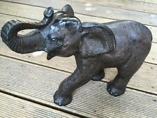 Elephant Ceramic Animal Figure Statue Very Detailed Textured Surface