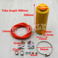 800ml Yellow Cylinder Radiator Overflow Reservoir Coolant Cooling Tank Can AU