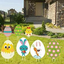 Easter Yard Signs Decorations Outdoor, 8Pcs Happy Signs, Bunny,.