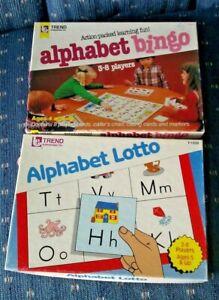 Lot of 2 Trend Games Alphabet Lotto and Alphabet Bingo Full class set