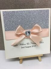 Personalised Glitter Heart Wedding Invitations  Pocketfolds - Any Colour