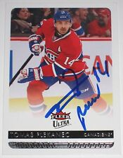 TOMAS PLEKANEC SIGNED 14-15 FLEER ULTRA MONTREAL CANADIENS CARD AUTOGRAPH AUTO!!