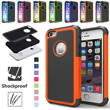 Case For iPhone XS X 8/7/6 Plus 6S 4S Shockproof Armor Dual Layer Fitted Cover