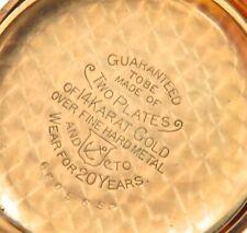 * EXCELLENT 14K DOUBLE GOLD PLATE CASE / c1898 HAMPDEN MOLLY STARK POCKET WATCH