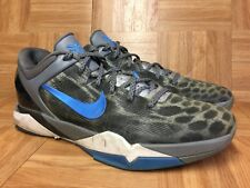 RARE🔥 Nike Kobe VII 7 Snow Leopard Wolf Gray Photo Blue Sz 13 488371-006 Men's