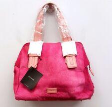 PRAGUE Pink Cow Hide Leather Satchel Handbag