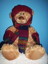 Hugfun Tan Plush Winter Bear with hat, scarf, & gloves 19''