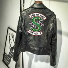UK New Southside Serpents Riverdale Women's Leather Jacket Print Xmas Gifts 2020