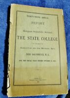 1903 Antique Report - RUTGERS SCIENTIFIC SCHOOL STATE COLLEGE, New Brunswick NJ