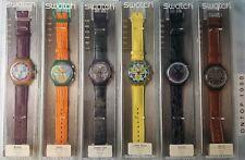 Swatch 6 verschiedene ungetragene Chronos 1991 - 1994