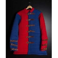 Medieval Thick Padded Red Blue Gambeson Armour Theater Custome Sca Play Movies