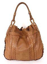 BOTTEGA VENETA Brown Perforated & Woven Leather MAXI Large Hobo Bag
