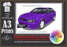 2002-2003 VY SS SEDAN A3 ORIGINAL PERSONALISED PRINT POSTER CLASSIC RETRO CAR