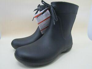 Crocs Freesail Shorty Women's Black Rain Boots Size 7