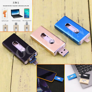 New 64GB 3in1 OTG iFlash Drive USB Flash Drives for iPhone/iPad Android Phone PC