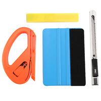 4IN1 Car Vinyl Felt Squeegee Snitty Blades Cutter Window Tint Wrapping Tools