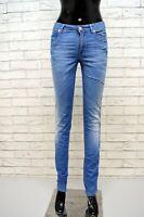 SIVIGLIA Jeans Donna Taglia 26 40 Pants Women Blu Denim Slim Pantalone Casual